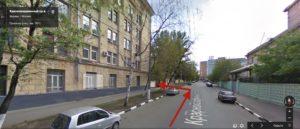 в переулке поворот налево